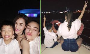 Hà Hồ cho Subeo đi 'quậy' trong tiệc sinh nhật trên du thuyền
