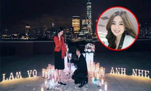 'Cô gái thời tiết' Mai Ngọc được bạn trai cầu hôn lãng mạn