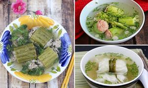 3 món canh rau củ nhồi thịt mát lành đủ chất