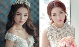 Linh Phi đẹp như thiên thần với váy cưới ren