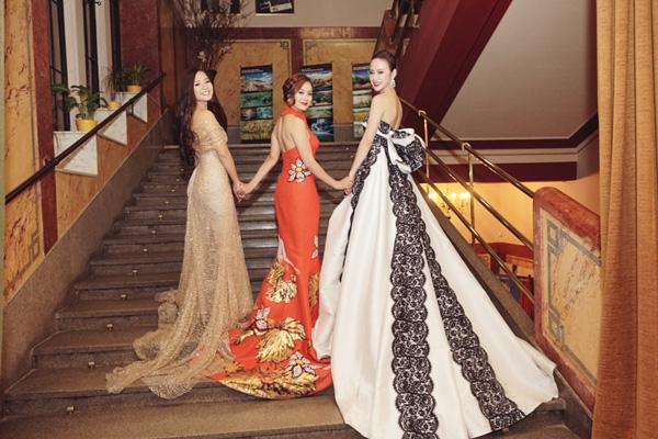 Thanh Thuý nổi bật với mẫu thiết kế mang đậm dấu ấn Việt của nhà thiết kế Hoàng Quyên...
