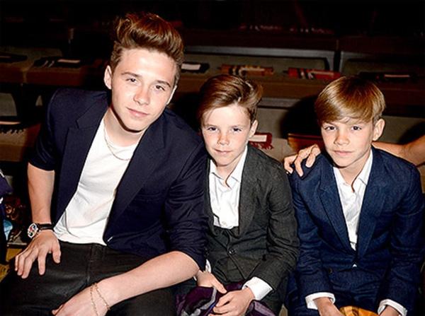 Ba con trai của Becks đều bộc lộ cá tính và tài năng riêng khác nhau.