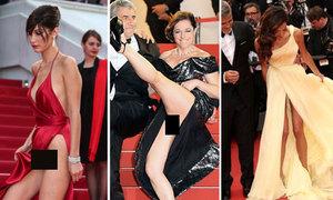 Các sao ngượng mặt vì sự cố váy áo tại Cannes 2016