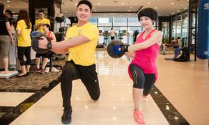 Ca sĩ Ngọc Khuê giữ dáng nhờ tập gym