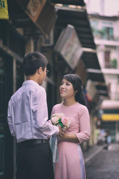 """[Caption]""""Trong 4 năm yêu nhau, Vân Anh luôn ở bên chăm sóc và động viên mình. Đối với mình, Vân Anh vừa là bạn, vừa là người yêu, vừa là tri kỷ"""", Đạt chia sẻ."""