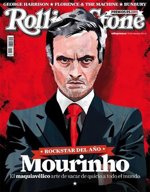 HLV Mourinho trên bìa tờ Rolling Stone số tháng 12 năm 2011 sau mùa giải thành công với Real.