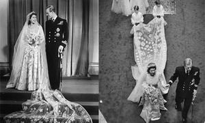 Váy cưới được chế tác kỳ công bậc nhất của Nữ hoàng Anh