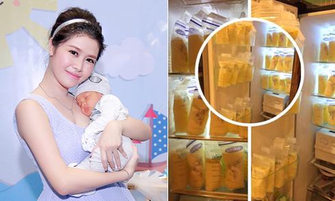 Nuôi con 8 tháng, vợ Đăng Khôi trữ đủ sữa mẹ đến khi con một tuổi