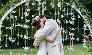 Trang trí đám cưới với nghệ thuật xếp giấy origami