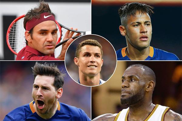 C. Ronaldo là cái tên nổi bật nhất làng thể thao