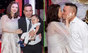Phạm Thanh Thảo bế bụng bầu kỷ niệm 1 năm ngày cưới