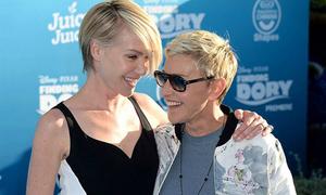 Cặp sao đồng tính tình cảm tại lễ ra mắt phim 'Đi tìm Dory'