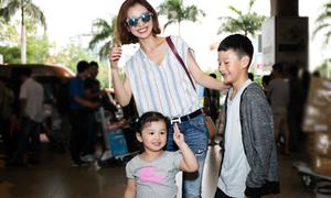 Jennifer Phạm và con gái ra sân bay đón Bảo Nam