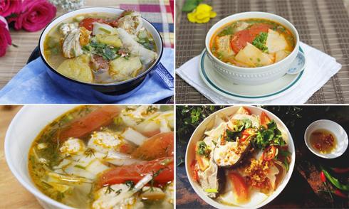 4 món canh măng chua xua tan nắng nóng