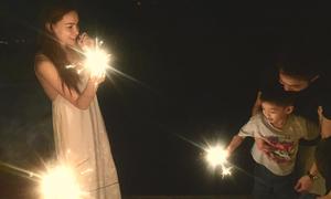 Hà Hồ tái hợp chồng cũ trong sinh nhật Subeo