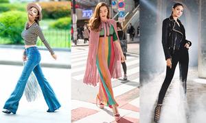 Diện thời trang thập niên 70 sành điệu như sao Việt