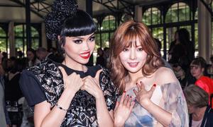 Jessica Minh Anh đọ sắc với 'nữ hoàng sexy' HuynA