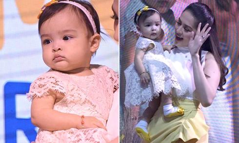 Thiên thần nhỏ của mỹ nhân Philippines tròn xoe mắt vì tò mò