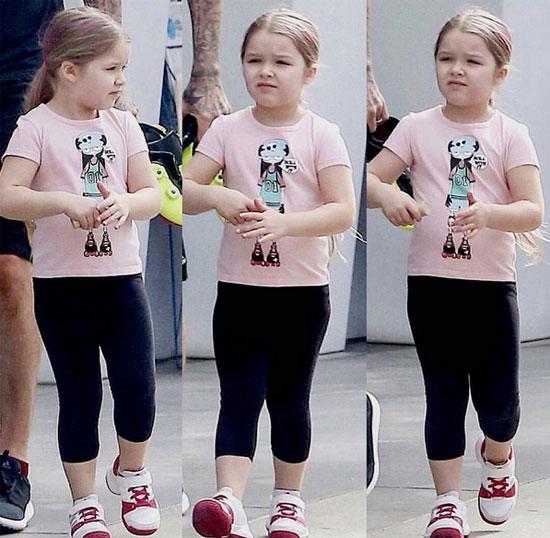 Là con gái độc nhất của một trong những cặp đôi nổi tiếng khắp thế giới, ngay từ khi sinh ra Harper đã trở thành tâm điểm chú ý. Cô bé được coi là fashionita nhí vì những bộ đồ sành điệu đáng yêu.