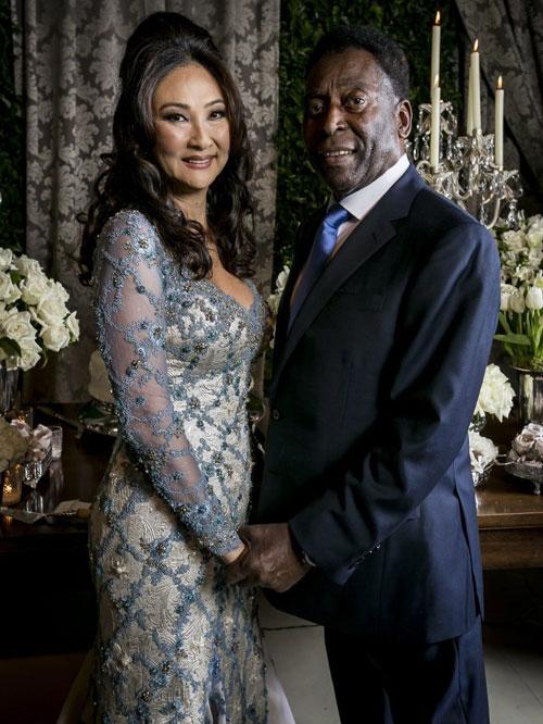 Pele hai lần đổ vỡ hôn nhân còn Marcia Cibele Aoki