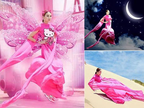Tạo hình tiên giáng trần của Thanh Hằng trở thành nguồn cảm hứng bất tận cho các khán giả trẻ.