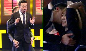 Hari Won cười ngặt nghẽo khi thấy Trấn Thành bị sờ soạng