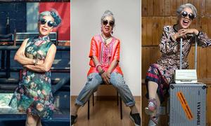 Cụ bà 80 tuổi hào hứng khi được làm người mẫu