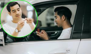 Thanh Bình lái xe đi chọn nhẫn đính hôn cho Ngọc Lan