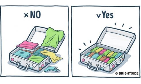 Đúng và sai khi xếp hành lý du lịch