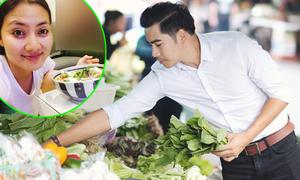 Thanh Bình chăm chút cho Ngọc Lan từng bữa ăn