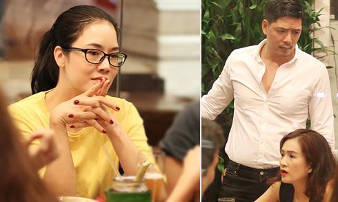 Thu Phương đượm buồn khi đi ăn với vợ chồng Bình Minh