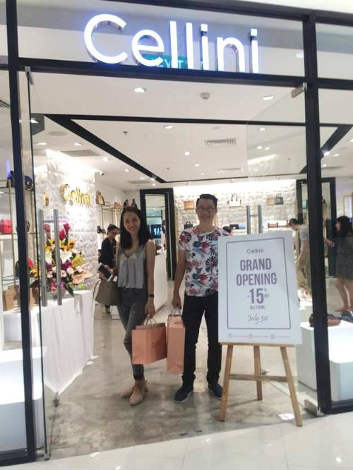 tận hưởng không gian mua sắm mới của Cellini