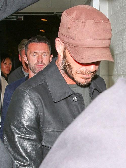Buổi tối trước đó, cựu sao 41 tuổi cùng đi ăn tối với bạn thân là đầu bếp Gordon Ramsey và đồng đội cũ Robbie Keane.