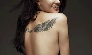 Hình xăm này là của người đẹp nào trong showbiz Việt?
