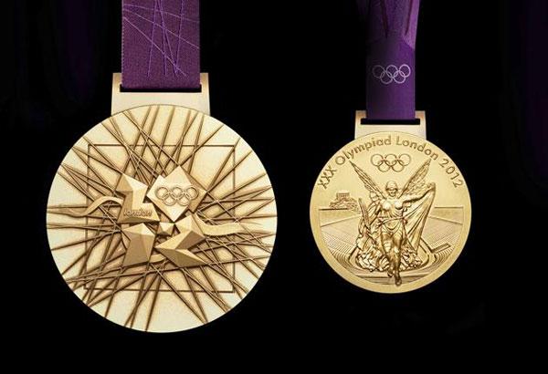 Hai mặt của tấm HC vàng tại Olympic London 2012.