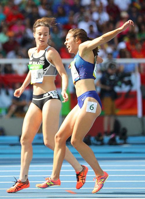 Sự cố xảy ra trên đường chạy 5.000m dành cho nữ tại Olympic Rio