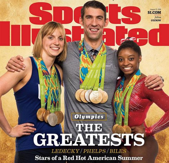 Ba VĐV giành nhiều huy chương nhất của Mỹ tại Olympic Rio trên trang bìa Sports Illustrated.