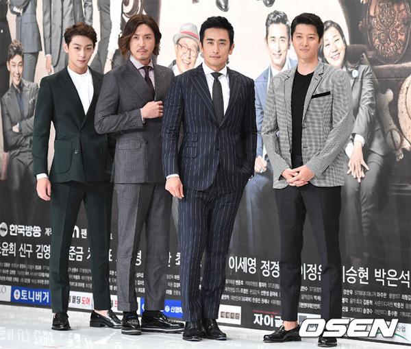 Dàn sao nam ra mắt khán giả. Nam diễn viên Lee Dong Gun (ngoài cùng bên phải cũng trở lại sau một thời gian dài vắng bóng.