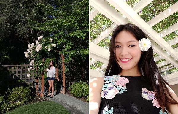 Tháng 6, Hoa hậu Thùy Dung ghé quaAtherton, California.
