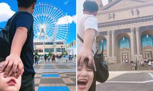 Bộ ảnh 'lôi đi khắp thế gian' hài hước của cặp đôi Hàn Quốc
