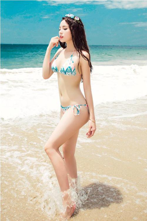 Nhờ tích cực ăn kiêng và tập luyện mà Kỳ Duyên đã giảm được 14 kg sau ba tháng.