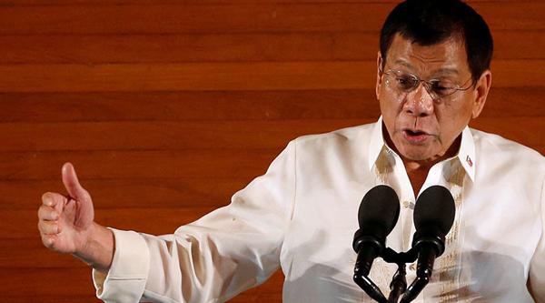 Tổng thống Philippines Rodrigo Roa Duterte. Ảnh: Reuters