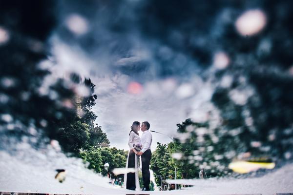 Đầu năm 2016, Giang bất ngờ nói trêu với Trung rằng: một người cần lấy chồng, một người cần lấy vợ, thế tại sao mình không quen nhau luôn nhỉ?
