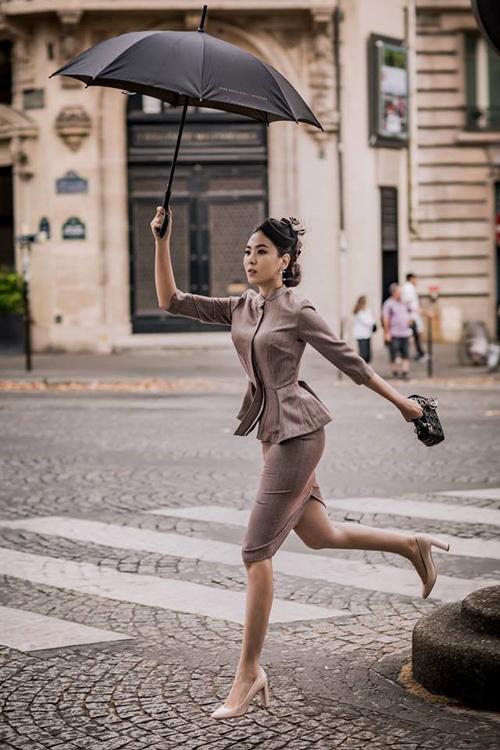 [Caption]Ngoài ảnh cưới, Mai Ngọc còn tranh thủ thực hiện một số bộ hình thời trang.