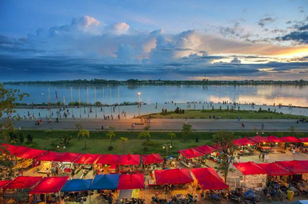 Một góc dòng sông Me Kông chảy qua Lào. Ảnh: shutterstock.