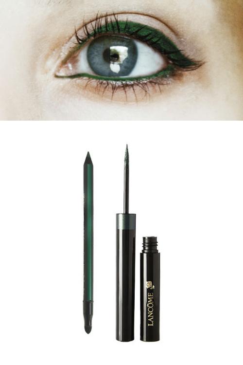Lens màu xanh dương - Eyeliner màu xanh ngọc bích