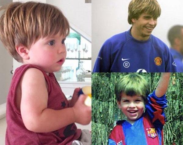 Trong khi anh cả  Milan giống mẹ nhiều hơn, cậu nhóc Sasha lại mang nhiều nét của bố