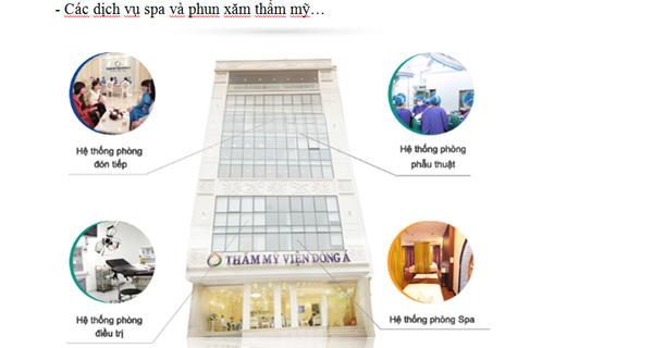 Mạng lưới chi nhánh của Đông Á Beauty phủ rộng khắp 3 miền với cơ sở trang thiết bị tối tân.