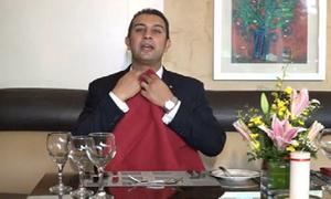 Cách sử dụng khăn ăn trong các bữa tiệc