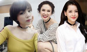 Sao Việt mix đa dạng với vòng choker